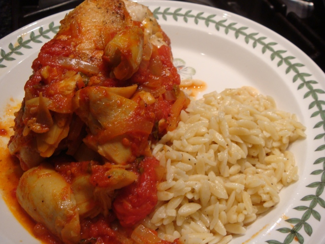 Chicken with Tomatoes and Artichokes