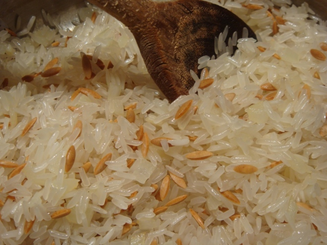 Making Rice Pilaf