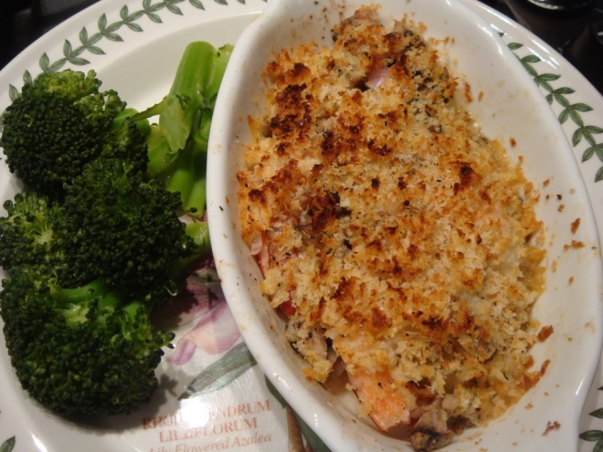 Little Shrimp Casserole with Broccoli