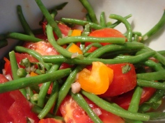 Green Bean, Tomato and Yellow Pepper Salad